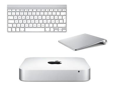 Mac mini 2,5 GHz + Trackpad + Tastatur  bei Gravis billiger als Mac Mini allein bei Apple