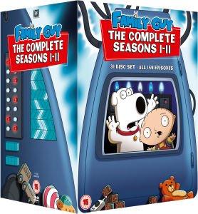 Family Guy Season 1 – 11 DVD-Box (Tonformat Englisch) für 38,99 € inkl VSK