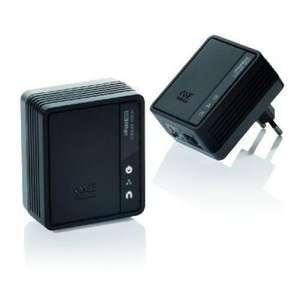 cyberport: one for All SV 2020 500Mbit Powerline TV-Link Adapter 2er Kit schwarz