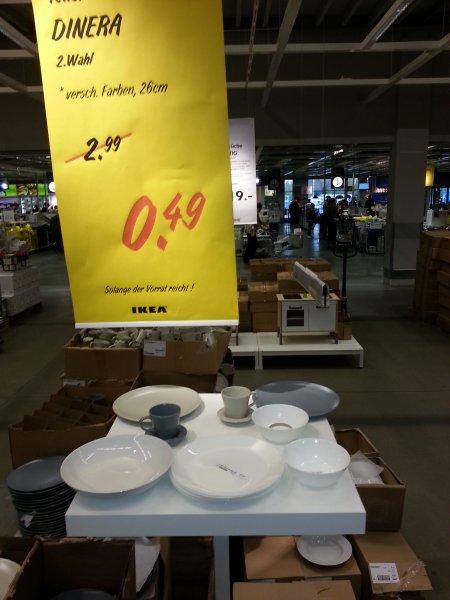 (LOKAL IKEA Günthersdorf) 2. Wahl DINERA flache/tiefe Teller, Tassen verschiedene Farben für je 0,49€ sonst 2,99€