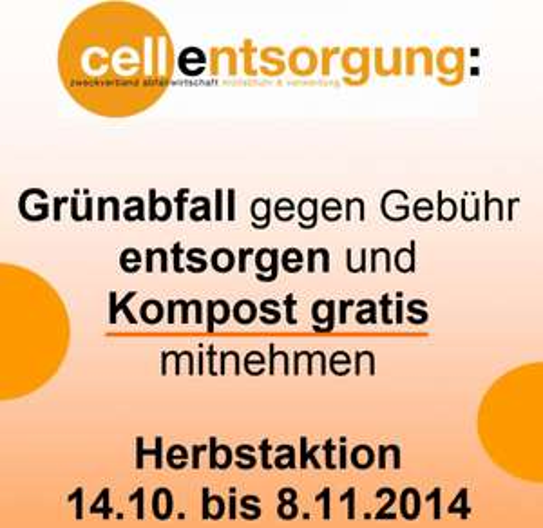 "Herbstaktion ""Gratiskompost"" in Celle ab 14.10"