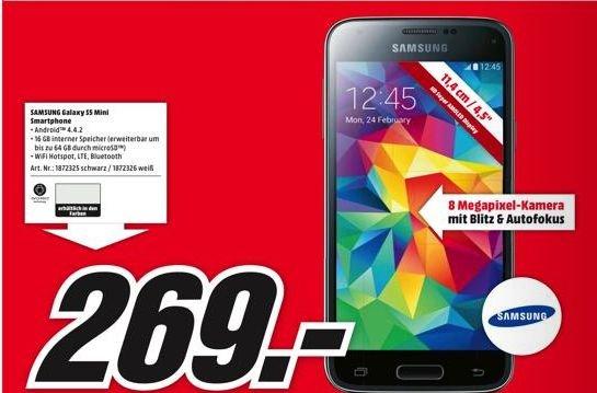 [Lokal]Samasung Galaxy S5 Mini für 269,- bei MM Eröffnung in Stuttgart Milaneo