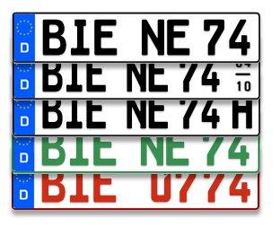 2x KFZ Kennzeichen (DIN Norm für die Zulassung) für 9,99 €