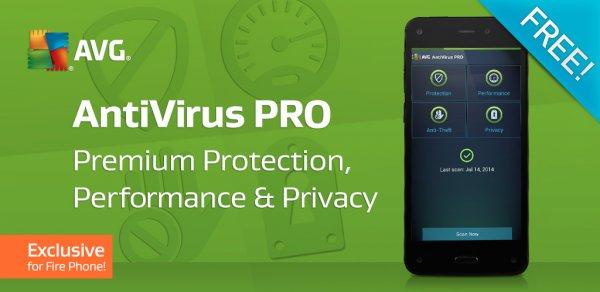 [amazon App Shop] AVG AntiVirus PRO kostenlos für das Fire Phone