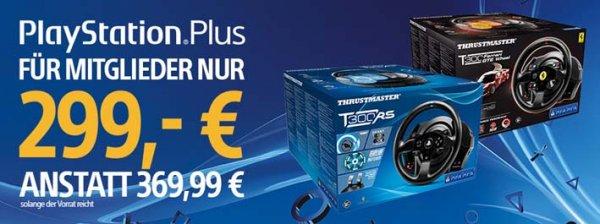[PS-Plus]Thrustmaster T 300 RS oder T 300 Ferrari GTE Wheel für 305,90€ anstatt 369,99€