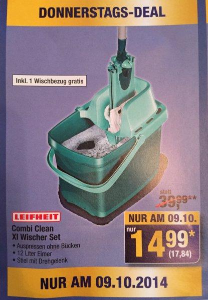 [METRO] Leifheit Combi Clean XL Wischer Set für nur 17,84€ effektiv statt 39,99€ nur am 09.10.2014