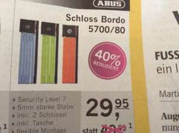 [offline@RadlBauer] Abus Schloss Bordo 5700/80 29,95€