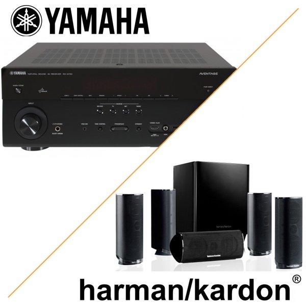 Yamaha RX-A730 & Harman Kardon HKTS 16 BQ - AV-Receiver und Lautsprecher-System Bundle