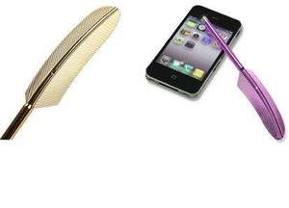 (eBay-Gadget aus Hong Kong) Stylus in Federkiel-Optik (10 Farben verfügbar) für € 0,70 versandkostenfrei nach Deutschland