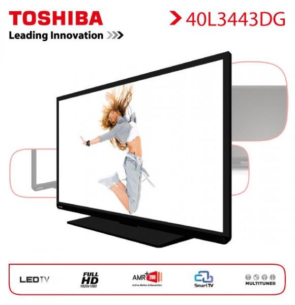"""Toshiba 40L3443 DG 102cm 40"""" Full HD LED Fernseher Smart TV WLAN 200 Hz  DVB-T/-C/-S  @ebay 319€"""