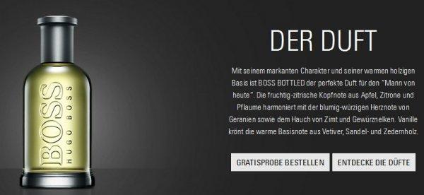 """Gratisprobe Hugo Boss Parfüm / Fragrance """"BOSS BOTTLED"""" Männerduft"""