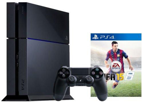 *EBAY* Sony Playstation 4 / PS4 500GB schwarz + FIFA 15 USK 0 [EU]  385€
