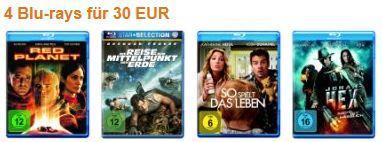 Amazon: 4 Blu-rays für 30€ inkl.Versand