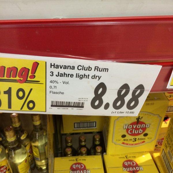 [Lokal - HH - Kaufland] Havana Club 3J. 8,88