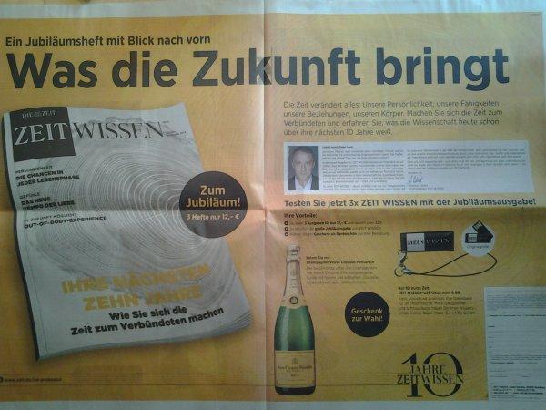 0,75l Veuve Clicquot trinken, 3x Zeit Wissen lesen für 12 Euro