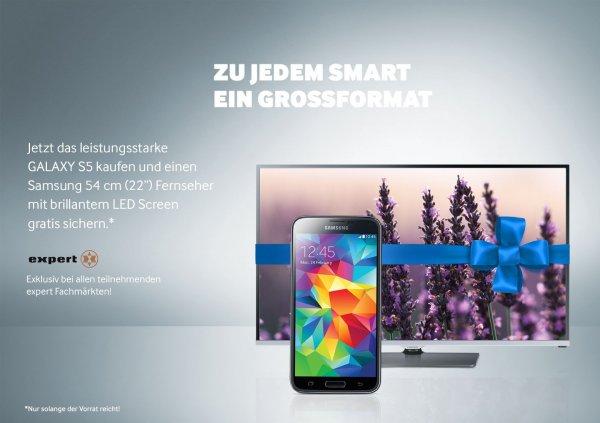 """[EXPERT] Samsung GALAXY S5 kaufen und einen Samsung 54 cm (22"""") Fernseher gratis dazu"""