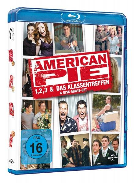 [Amazon.de] American Pie 1, 2, 3 & Das Klassentreffen   4 Blu-Rays   14.97€ (Prime)