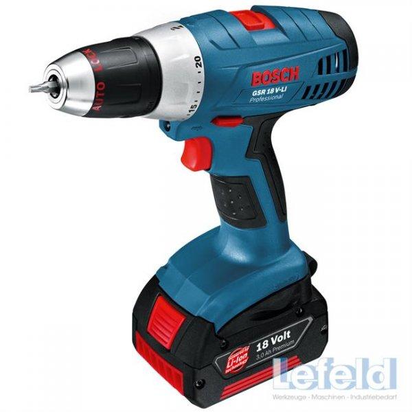 [eBay WOW] Bosch Professional GSR 18 V-LI inkl. 3 Akkus 3,0 Ah, Koffer, Ladegerät