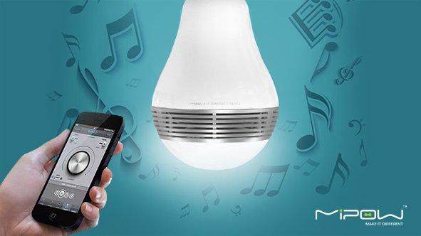 Nur heute! MiPow BTL100-WT-WW Smart Bluetooth LED-Lautsprecher mit integriertem Playbulb für Apple iPhone und Android Gerät für 43,50@vente-privee