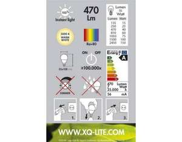 XQ-Lite LED-Leuchtmittel 10er Set, E27, 7W, 470lm, 3.000K @meinpaket  29,90€