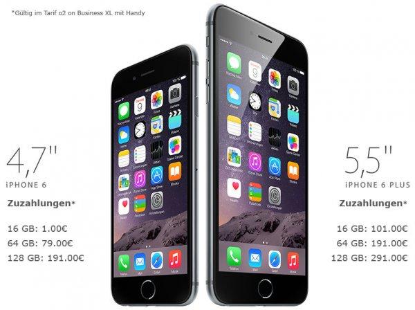 O2 on Business XL inkl. Apple iPhone 6 für 39,95€ rechn.