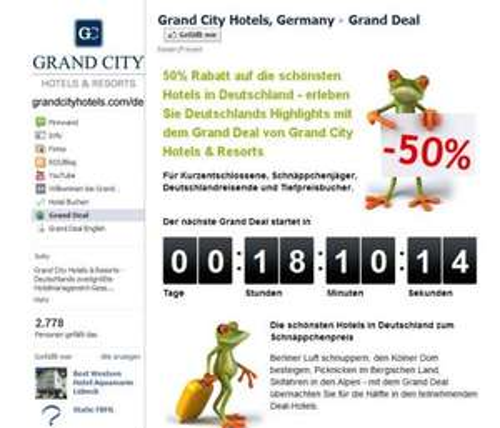 Grand Deal bei Grand City Hotels auf Facebook