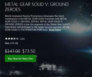 METAL GEAR SOLID V: GROUND ZEROES Xbox One Hong Kong Store (Gold Abo nötig)