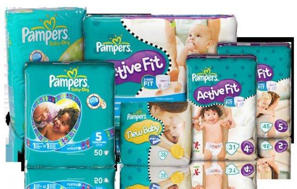Pampers (New Baby / Baby Dry / Active Fit) verschiedene Sorten & Größen sehr günstig (ab 0,17 € stk.)