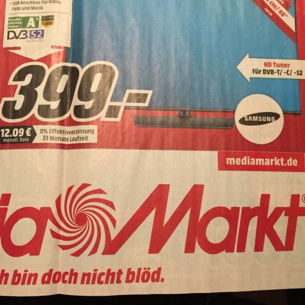 Lokal MM Kiel Schwentinental Rendsburg Samsung UE48H5090 LED TV 399€