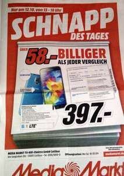 Galaxy S5 Media Markt Cottbus 12.10.