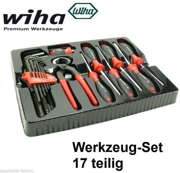 Bosch Wiha Werkzeug Set 17 tlg Schraubendreher Kneifzange Inbus Neu 1619BR0400 für 16,99