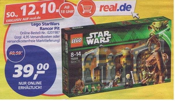 [ Real.de ]  Lego Star Wars 75005 - Rancor Pit     (Nur am 12.10.14 ab 18Uhr)  33,15€