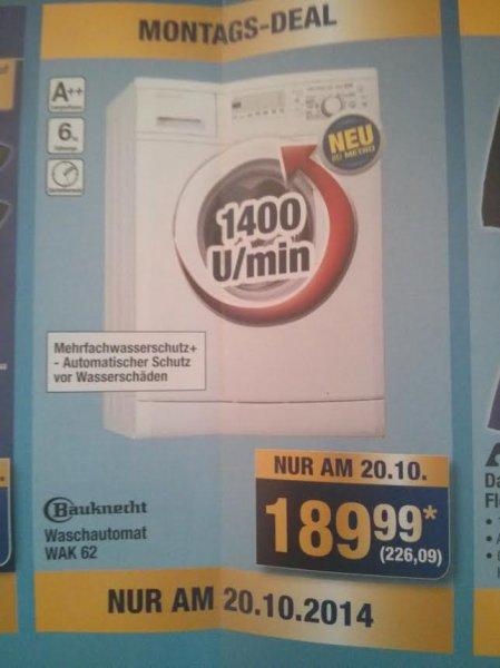 Bauknecht WAK62 Waschmaschine für 226,09€! [Nur am 20.10.2014]