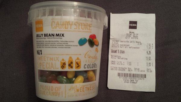 [lokal]@ Hema Neuss Jelly Bean Mix  550g für 2,50 Euro;  1Kg für 4,55 Euro