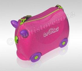 Trunki Trixie (pink) und Trunki Terrance (blau) - Fahrbarer Kinder Reisekoffer