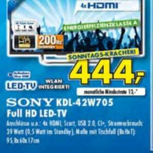 Sony 42 W 705 / 706 444,- Lokal Ratingen