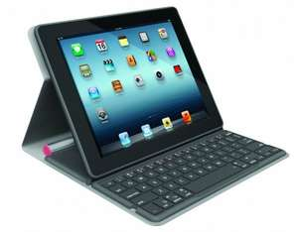Logitech Bluetooth Solar Tastatur Foliocover für Apple iPad 2/3/4 Coral Pink 17.85€ @ Amazon