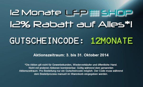 12% auf alles im www.lfp-shop.de (Deal -> Fotospannrahmen)