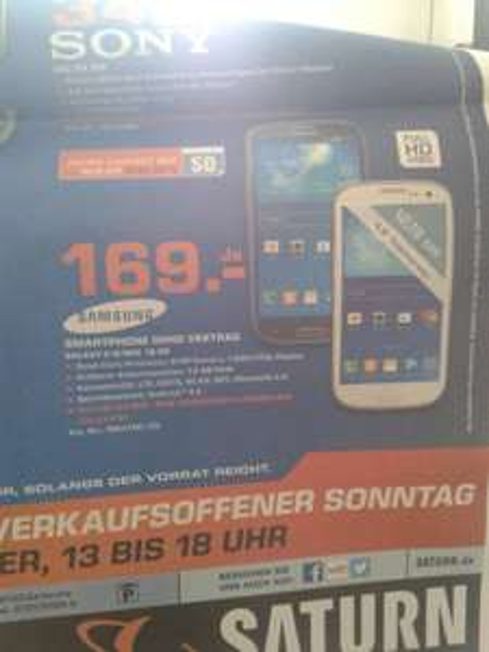 Samsung i9301 Galaxy S3 Neo 16GB @ Saturn 169 €