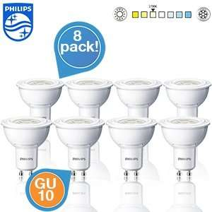8er Pack Philips LED-Spots - GU10, 2700K, 3 Wat @iBOOD