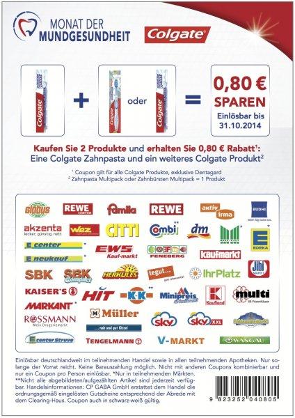 [KAUFLAND BUNDESWEIT] 2 x Colgate Komplett Zahnpasta 75ml für 0,74 € (Angebot + Coupon)