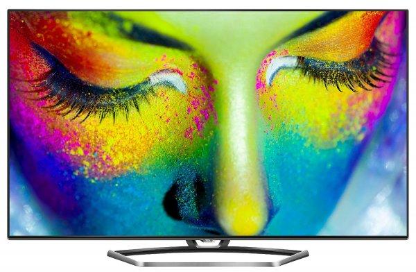 (Amazon Blitzangebot): TCL U55S7606DS 139 cm (55 Zoll) LED-Backlight-Fernseher, EEK A+ (3D, Ultra HD, 200Hz CMI, DVB-T2/C/S2, CI+, 3x HDMI, 3x USB 2.0, Smart TV, HbbTV, WLAN) inkl. 2x Aktiv-3D-Brille silber/schwarz 899,99 inkl. Versand