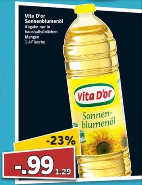 [lidl] sonnenblumenöl für 0,99€