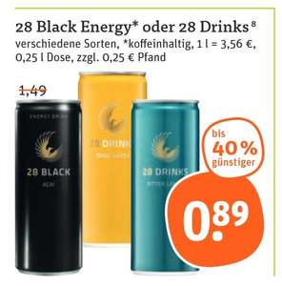 "[tegut] 28 Black (ehemals ""Schwarze Dose"") - 0,89€"