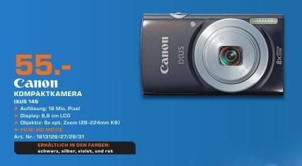 [Lokal Saturn Hagen] Canon Ixus 145 für 55 Euro!  Idealo: 71,94