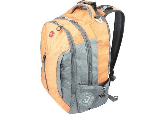 @Dealclub, Wenger Freizeit/Laptop Rucksack in der Farbe orange/grau für 34,95€