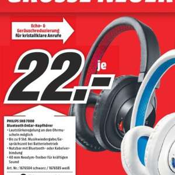 Lokal Stuttgart - Philips shb 7000 bluetooth On ear Kopfhörer