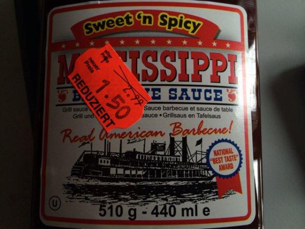 [lokal Kaufland Alfeld] Mississippi Sweet'n Spicy Barbecue Sauce