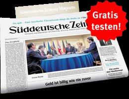Zwei Wochen gratis die Süddeutsche Zeitung lesen [Kündigung notwendig]