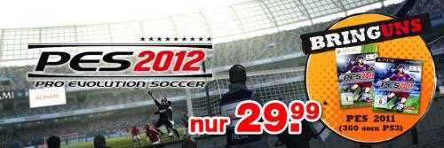 PES 2012 für PS3/Xbox360 - 29,99€ plus altes PES 2011 bei Gamestop